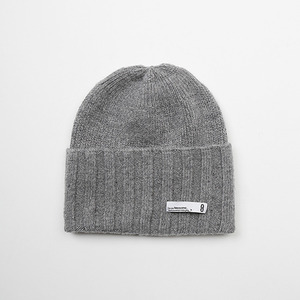 WOOL KNIT BEENIE - GRAY