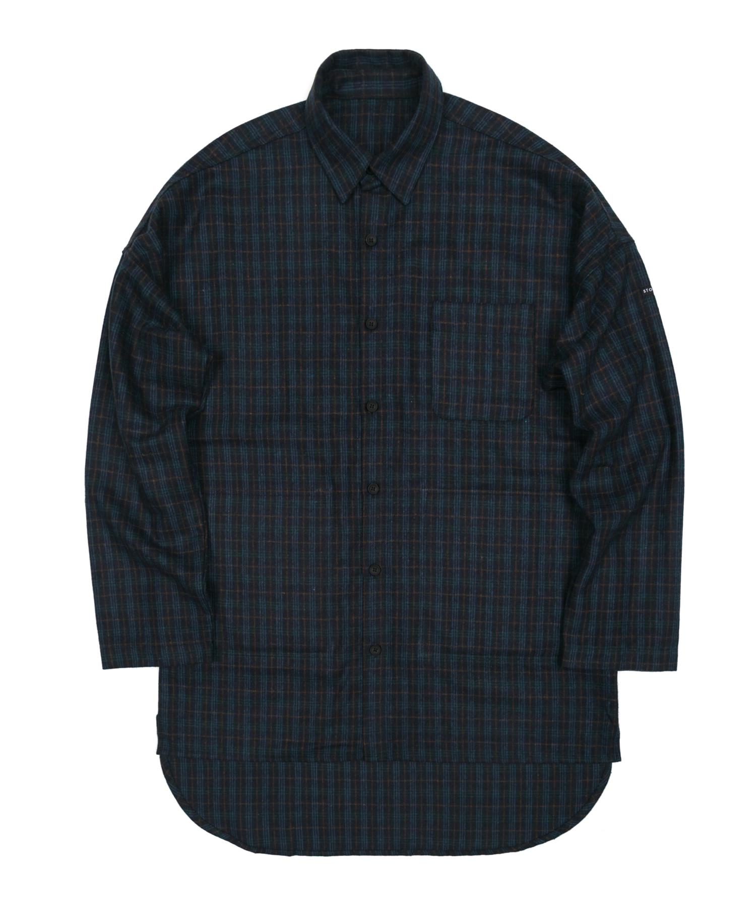 FLANNEL CHECK LONG SHIRTS - NAVY