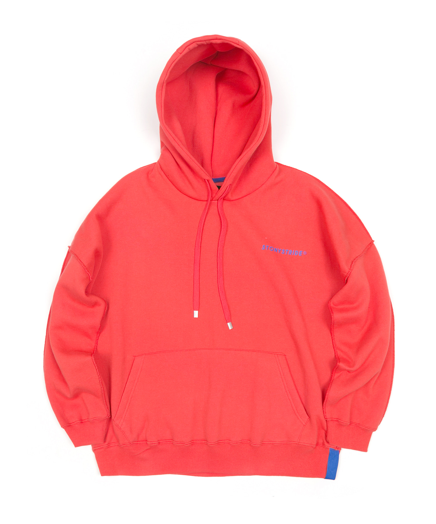 INSIDEOUT STITCH OVER HOODIE - RED