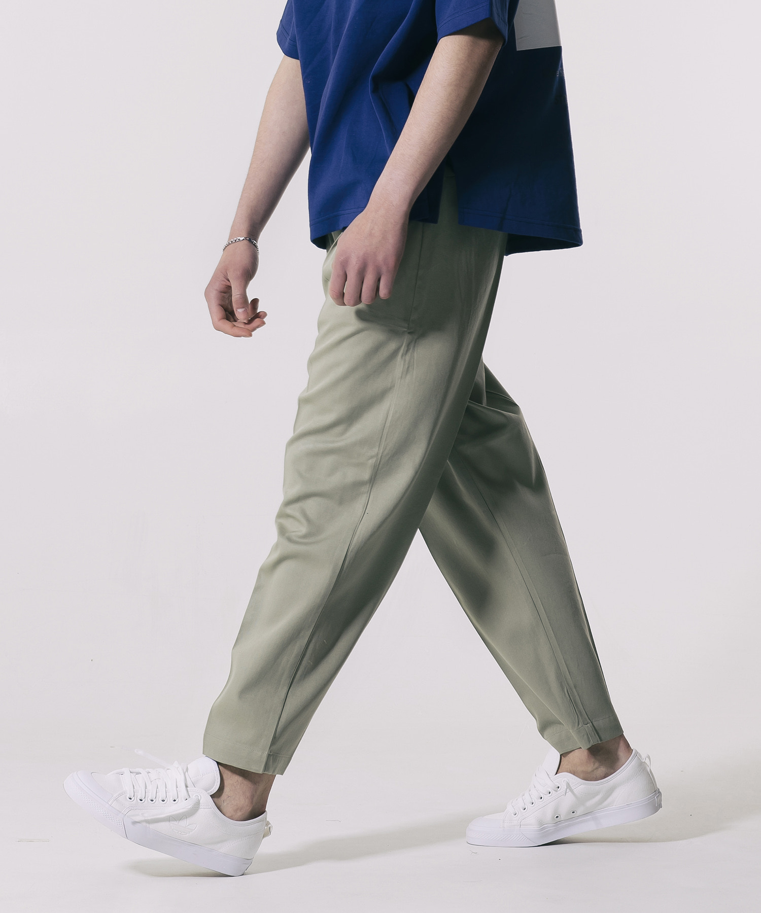TENSELL SEMI WIDE SLACKS - OLIVE