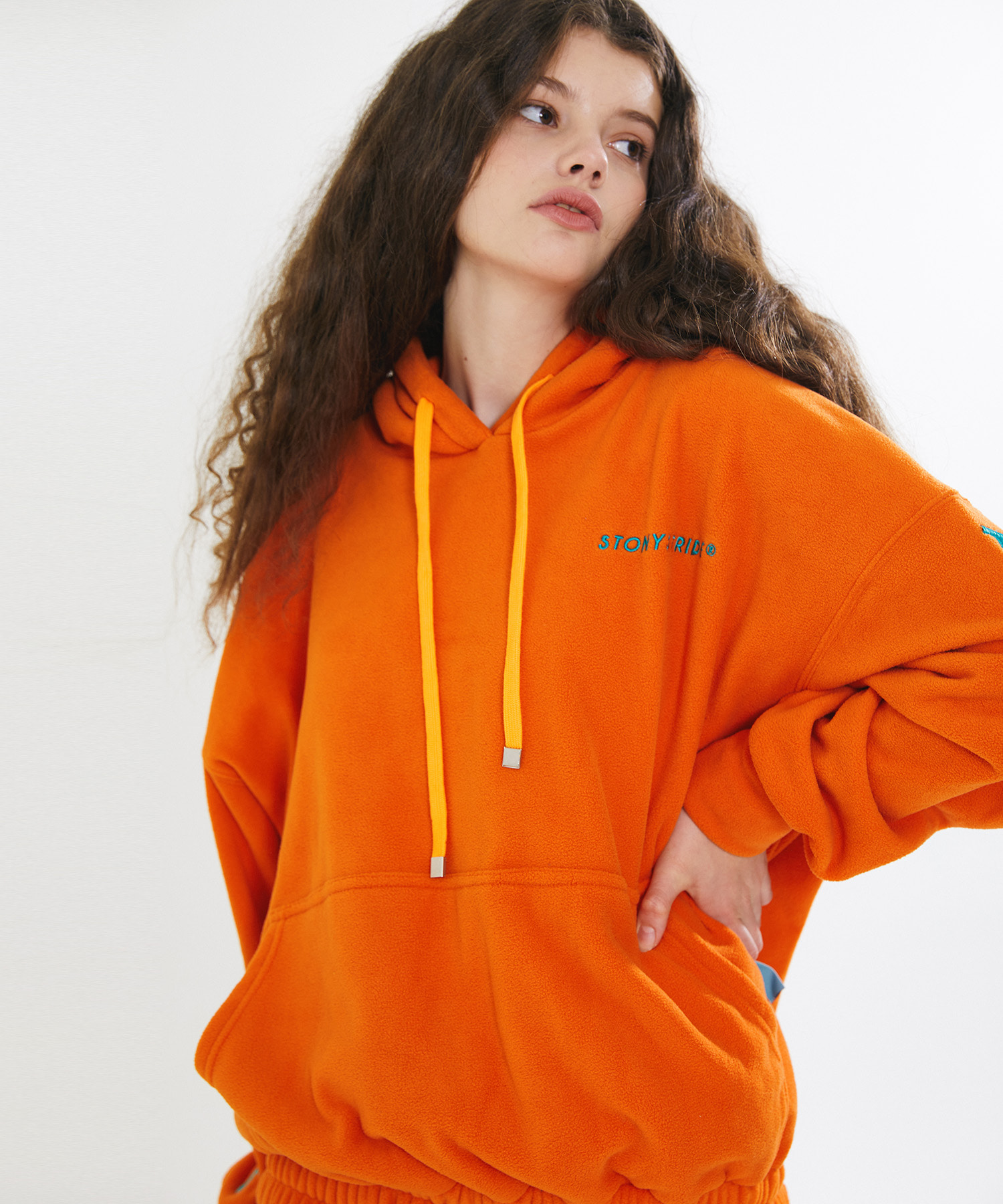 FLEECE SIGNATURE LONG HOOD VER. 1 – ORANGE