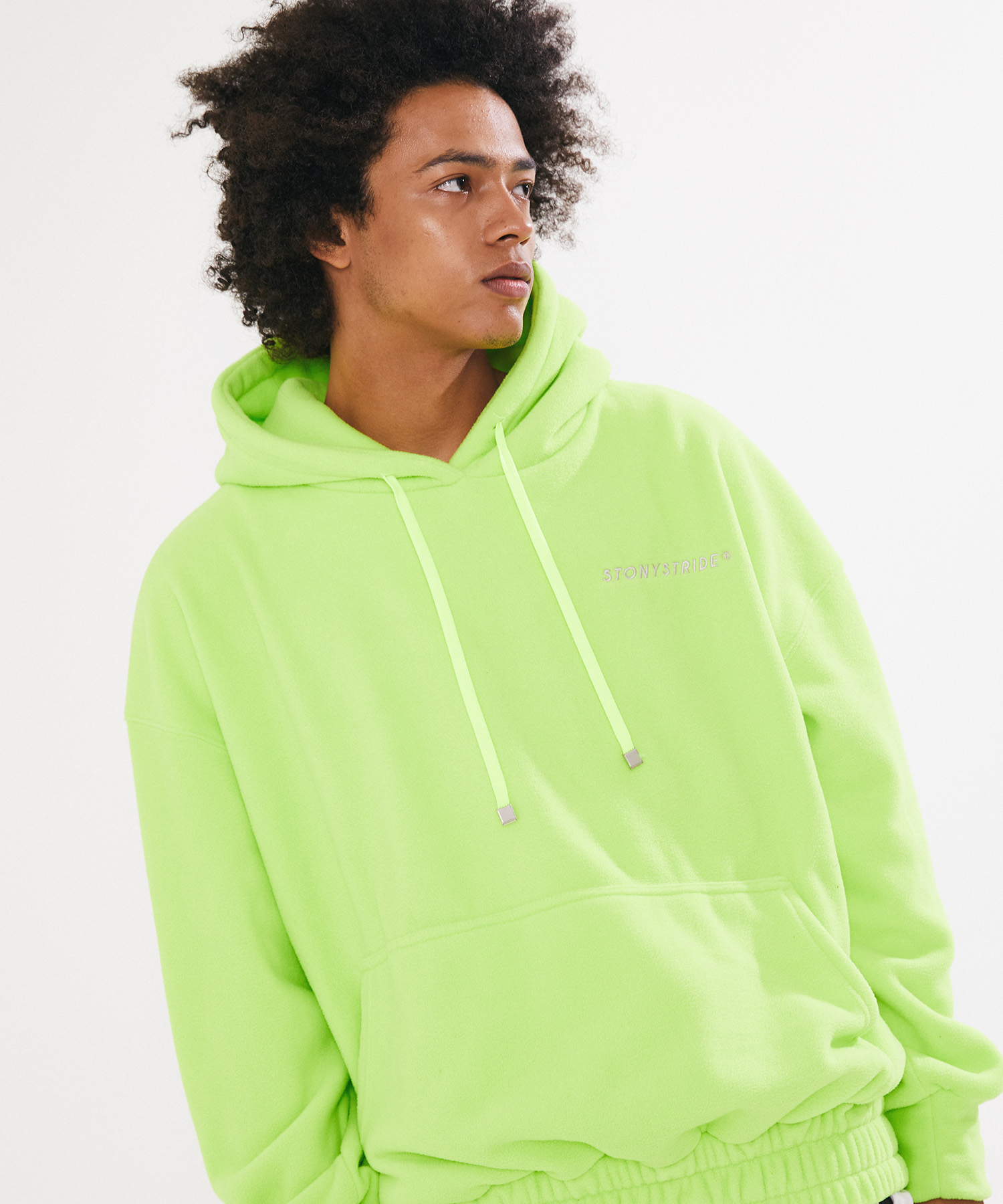 FLEECE SIGNATURE LONG HOOD VER. 1 – NEON