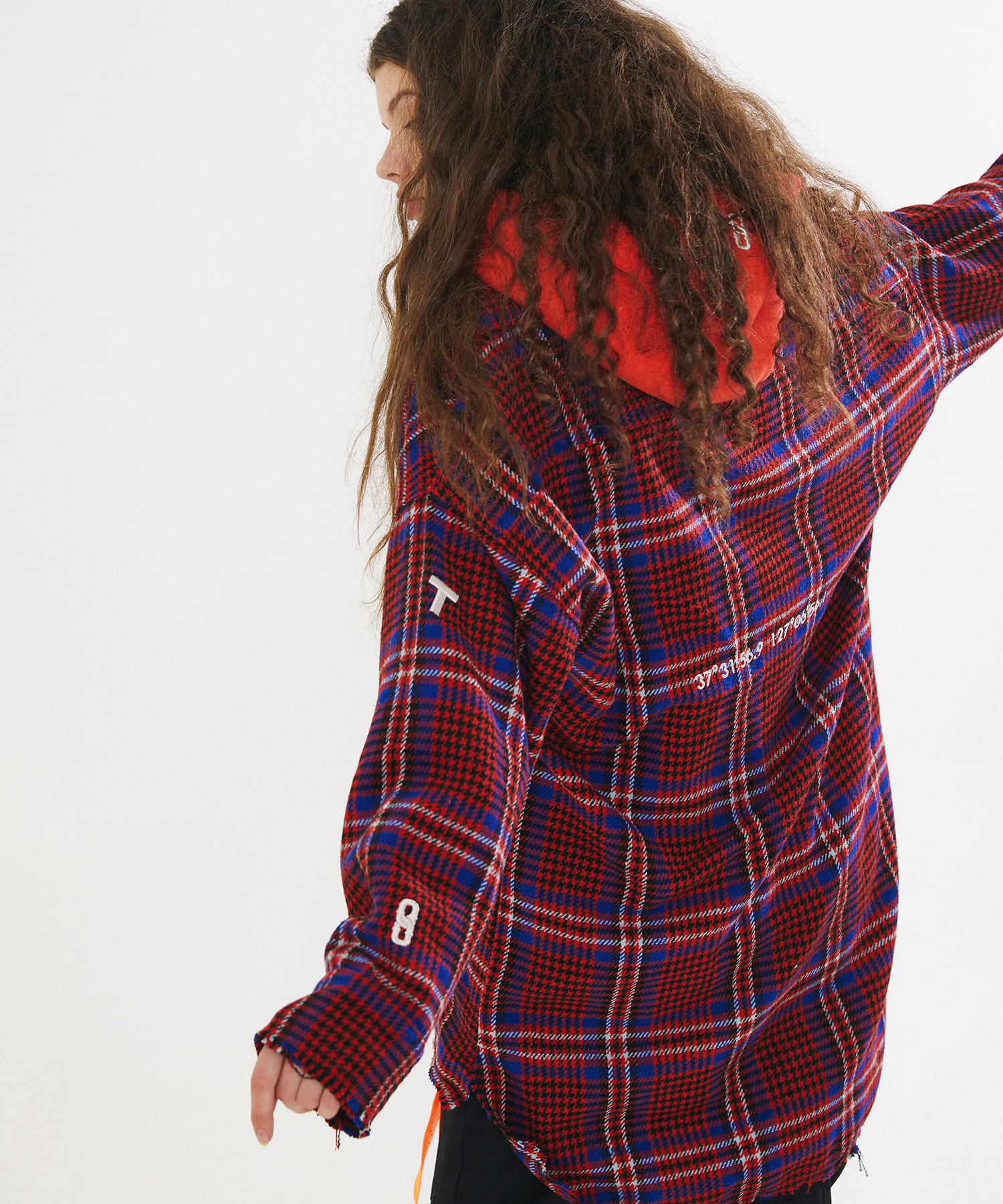GINGHAM CHECK LONG SHIRTS – RED